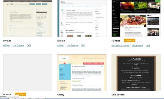 Beberapa Tema WordPress