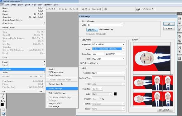 Membuat Ukuran Pas Photo dengan Photoshop dan Mencetak dalam ...